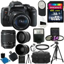 Canon EOS Rebel T6i Digital SLR Camera + 18-55mm STM Lens +