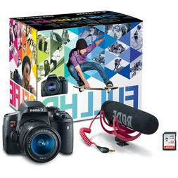Canon  EOS Rebel T6i DSLR Camera with 18-55mm Lens Video Cre