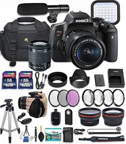 Canon EOS Rebel T6i 24.2 MP DSLR Camera with Canon EF-S 18-5