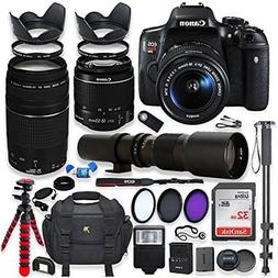 Canon EOS Rebel T6i DSLR Camera with 18-55mm STM Lens Bundle