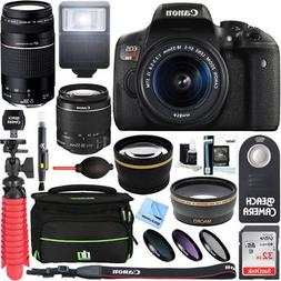 Canon EOS Rebel T6i DSLR Camera w/ EF-S 18-55mm & 75-300mm I