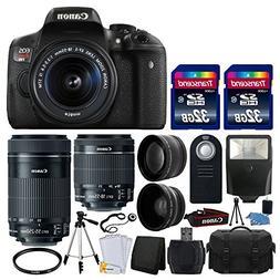 Canon EOS Rebel T6i 24.2 MP EF-S DSLR Camera + Canon EF-S 18