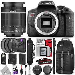 Canon EOS Rebel T6i Digital SLR Camera + EF-S 18-55mm f/3.5-
