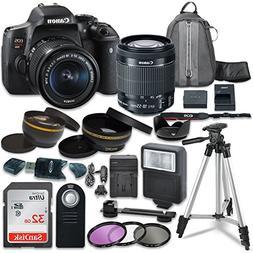 Canon EOS Rebel T6i Digital SLR Camera with Canon EF-S 18-55