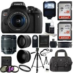 Canon EOS Rebel T6i SLR Camera 18-55mm f/3.5-5.6 Lens Deluxe