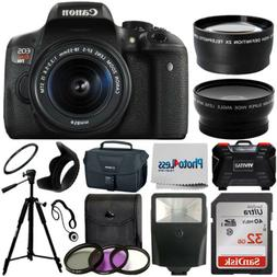 Canon EOS Rebel T6i SLR Camera + 18-55mm STM Lens + 32GB Acc