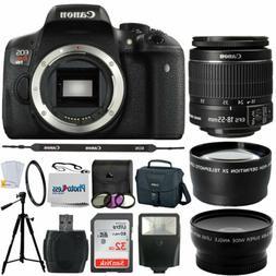 Canon EOS Rebel T6i SLR Camera + 18-55mm STM Lens + Top Valu