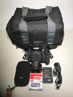 Canon EOS Rebel T6i SLR Camera Bundle W/ EF 50mm 1.8 Lens