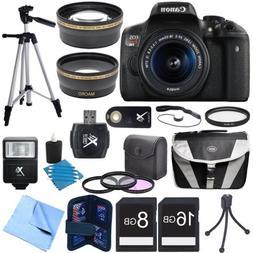 Canon EOS Rebel T6i Digital SLR Camera w/ EF-S 18-55mm IS ST