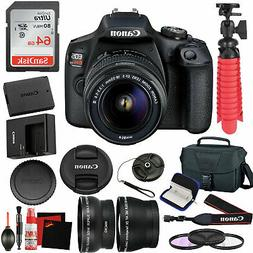 Canon EOS Rebel T7 DSLR Camera +18-55mm Lens and 64GB Memory