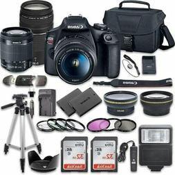 Canon EOS Rebel T7 DSLR Camera Bundle with   Lenses + Deluxe