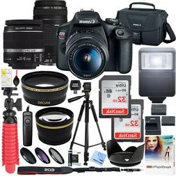 Canon EOS Rebel T7 DSLR Camera w 18-55mm IS II + 75-300mm II