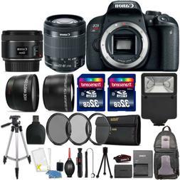Canon EOS Rebel T7i 24.2MP DSLR Camera + 18-55mm + 50mm 1.8