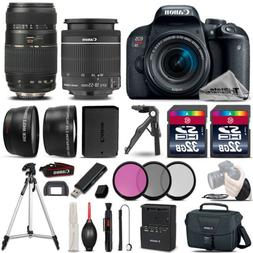 Canon EOS Rebel T7i 800D 24.2MP DSLR Camera w/ 18-55mm and 7