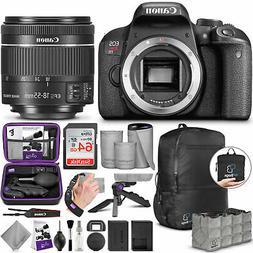 Canon EOS Rebel T7i / 800D DSLR Camera + EF-S 18-55mm Lens &