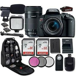 Canon EOS Rebel T7i DSLR Camera with Canon EF-S 18-55mm f/4-