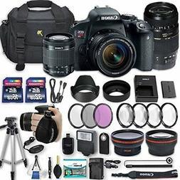 Canon EOS Rebel T7i 24.2 MP DSLR Camera with Canon EF-S 18-5