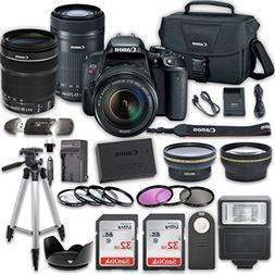 Canon EOS Rebel T7i DSLR Camera Bundle with Canon EF-S 18-13