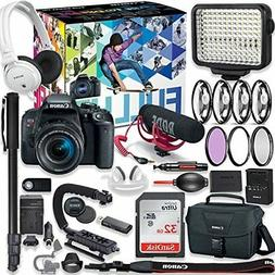 Canon EOS Rebel T7i DSLR Camera Video Creator Kit with Canon