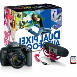 Canon - EOS Rebel T7i DSLR Camera w/ EF-S 18-55mm IS STM Len