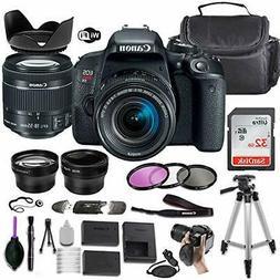 Canon EOS Rebel T7i DSLR Camera w/EF-S 18-55mm STM Lens + Ac