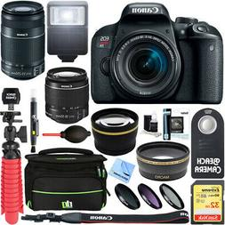 Canon EOS Rebel T7i DSLR Camera w/ EF-S 18-55mm & 55-250mm L
