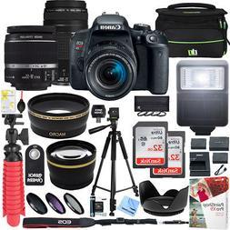 Canon EOS Rebel T7i DSLR Camera w/ EF-S 18-55mm & EF 75-300m