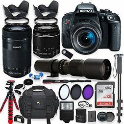 Canon EOS Rebel T7i DSLR Camera with 18-55mm STM Lens Bundle