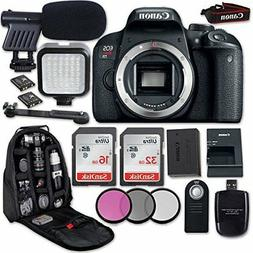 Canon EOS Rebel T7i DSLR Camera  + LED Light + Microphone +