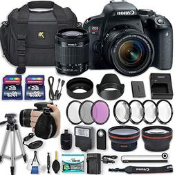 Canon EOS Rebel T7i 24.2 MP DSLR Camera with EF-S 18-55mm f/