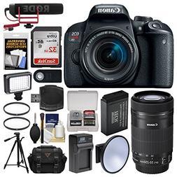 Canon EOS Rebel T7i Digital SLR Camera & 18-55mm + 55-250mm