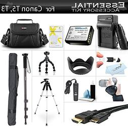 Essential Accessory Kit For Canon EOS Rebel T5, T3, T6 Digit