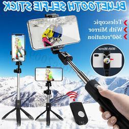 Extend Handheld Selfie Stick Tripod Bluetooth Remote Shutter