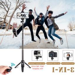 Extendable Selfie Stick Tripod bluetooth Shutter F/ Smartpho