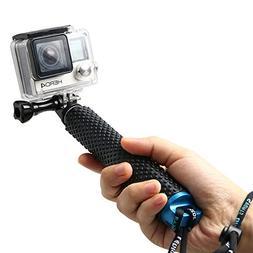 "Zenwow Gopro Selfie Stick Extendable Pole 19"" Waterproof H"