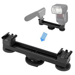Hot Shoe Extension Bar Mount, pangshi B-12 Hot Shoe Dual Bra