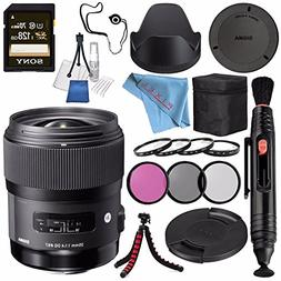 Sigma 35mm f/1.4 DG HSM Art Lens for Sony DSLR Cameras # 340