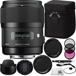 Sigma 35mm f/1.4 DG HSM Art Lens  Bundle Includes Manufactur