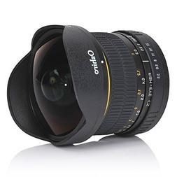 Oshiro 8mm f/3.5 LD UNC AL Wide Angle Fisheye Lens for Canon