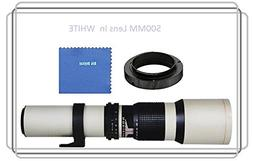 Vivitar 500mm f/8.0 Manuel Focus Telephoto Lens  For Canon E