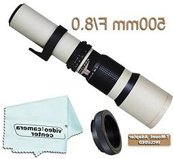 500mm F/8.0 Multi-Coated Telephoto Lens For Canon EOS Rebel