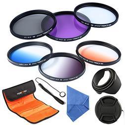 K&F Concept 58mm 6pcs Lens Filter Kit Slim UV + Slim CPL Cir