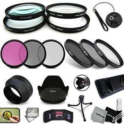 PRO 58MM Filters + 58mm Lens Hood KIT for Nikon AF-S DX NIKK