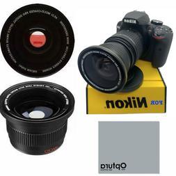 FISHEYE Lens for Nikon Af-s Dx Nikkor 18-55mm f/3.5-5.6G Vr