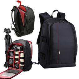 fit Most Digital DSLR Camera Laptop Backpack Bag Case+Rain C