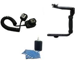 SAVEONS Camera Flash Bracket Kit includes SLR Flash Bracket