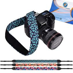 RoryTory 3pc Flower and Quotes Design DSLR Camera Shoulder a