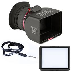 Neewer Foldable 3-Inch LCD Viewfinder 3X Magnification for C