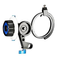 Neewer Follow Focus with Single 15mm Rod Clamp,Adjustbale Ge