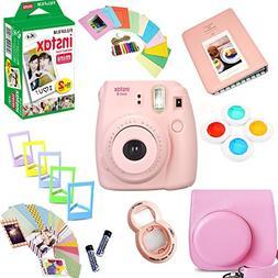 Fujifilm Instax Mini 8 Film Camera  + Instax Mini Film  + Pr